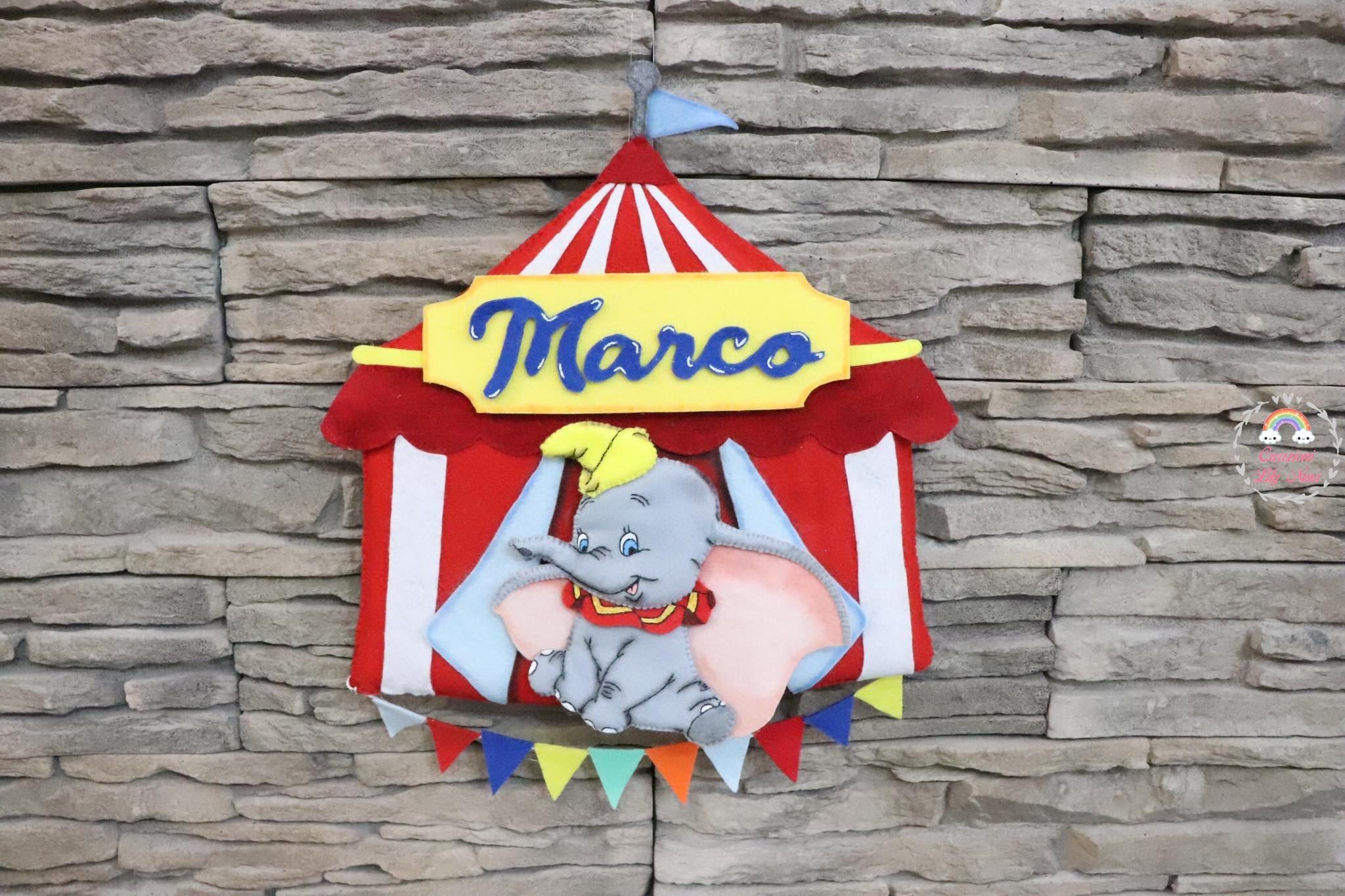 Fiocco Nascita Dumbo al circo