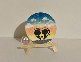 idee regalo per lui/lei disco dipinto a mano