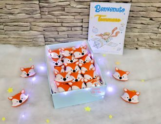 Portachiavi volpe in feltro pannolenci per bomboniere