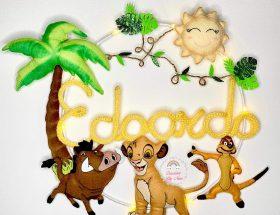 Fiocco nascita tricotin Simba Re Leone