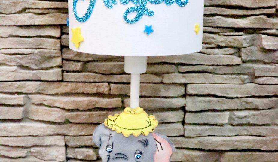 Lampada cameretta personalizzata a tema Dumbo