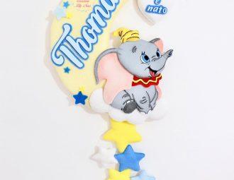 Fiocco nascita Dumbo in feltro pannolenci